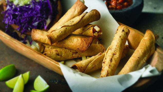 Tacos dorados de queso y papa - Chef Oropeza