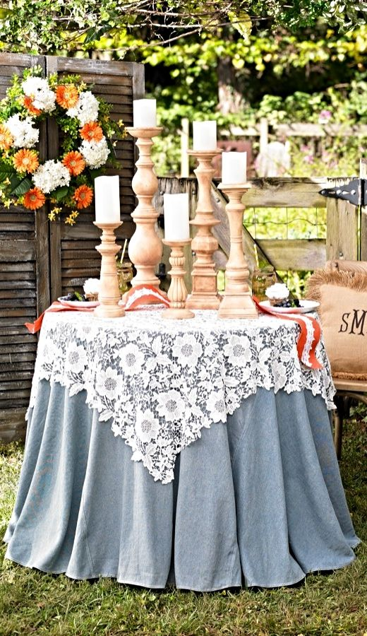 Layer our Lace Table Topper over a bare table-or a contrasting tablecloth-to create different decorative looks. The pretty floral pattern adds femininity and appealing texture.