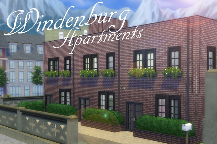 My Sims 4 lot build: Windenburg Apartments by LiseHaidee Download it from the gallery and enjoy!