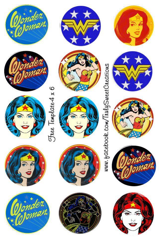 Wonder Woman bottle cap images