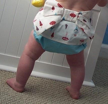 Kimono Sweet Bottoms diaper cover: Irresistible. $25