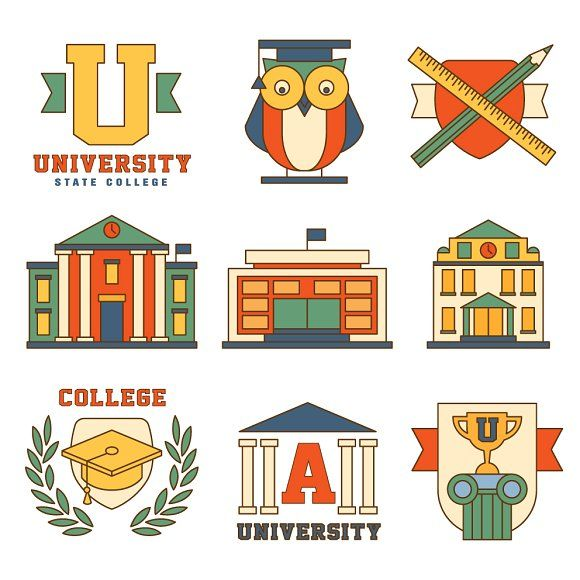 Education and College Collection by TopVectors on @creativemarket