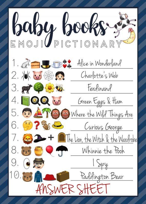 Baby Shower Emoji Game Baby Boy Books Nursery Rhymes Etsy Baby Boy Book Virtual Baby Shower Ideas Virtual Baby Shower