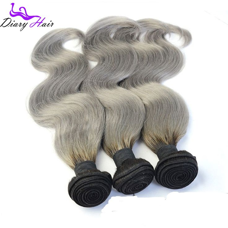 8 best capelli hair products images on pinterest hair weaves find more human hair extensions information about 7a grade 1b silver ombre virgin hair body wave pmusecretfo Gallery