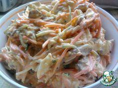 "Салат ""Кореянка"" ингредиенты морковь по корейски, мясо, огурец, яйца"