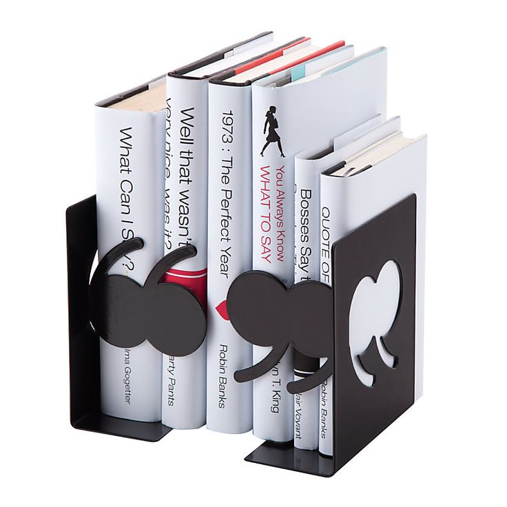 Marvelous See Jane Work Quote Metal Bookends 6 H X 5 12 W X 3 D Black, Quotation Mark  Bookends Add Style And Organization To Your Bookshelf Or Desktop At Office  Depot ...