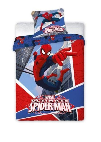 Chlapčenské posteľné obliečky červenej farby Spiderman