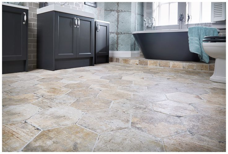 Ghetto rustic effect geometric porcelain floor #tiles in pewter