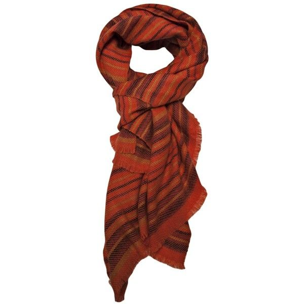 DENIS COLOMB cashmere scarf (510 CAD) found on Polyvore