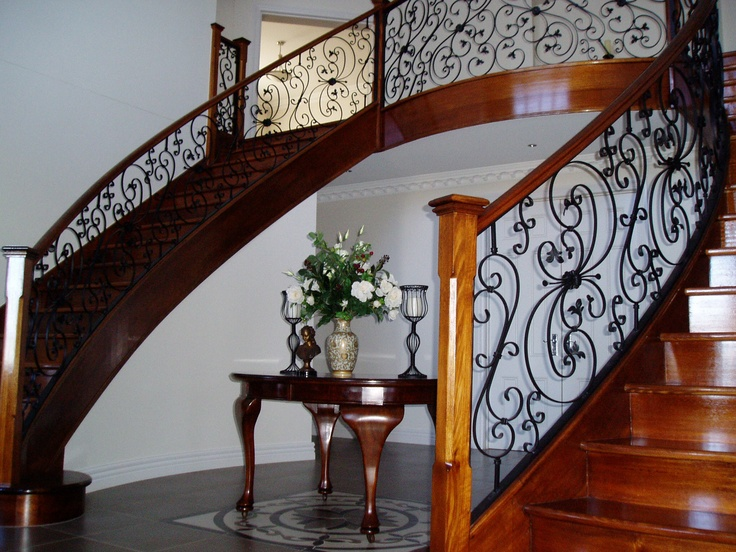 Geometric Staircase 'Timber Staining' at it's best! Visit our website: www.cnpaintersmelbourne.com.au