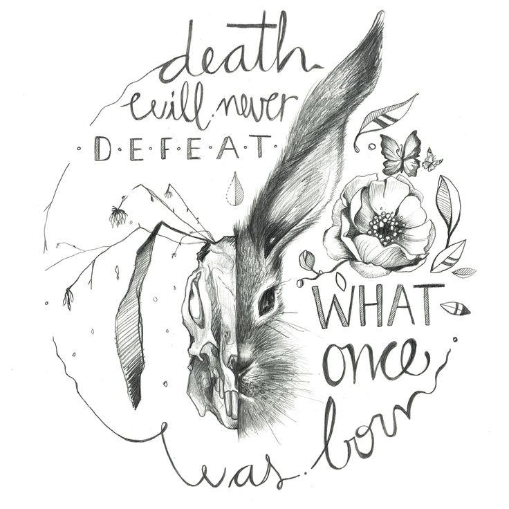 "Nirvana Jimenez illustration.  ""Death will never defeat what once was born"".  Facebook.com/nirjimenez  Instagram/nir_illustration"