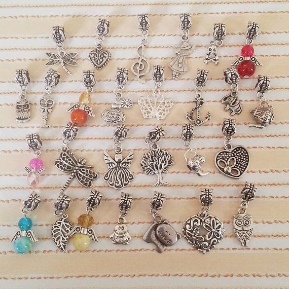 Pandora Style Charms for Charm Bracelet by AaishasCreativeMess