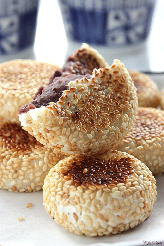 Sticky Rice Cakes with Red Bean Paste | All Recipes in 2019