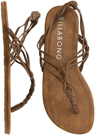 Billabong Woven In Time Sandal ($24) found on Polyvore featuring shoes, sandals,