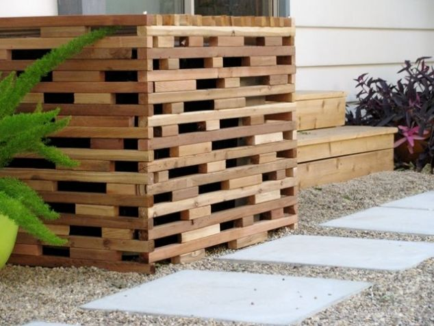 privacy screens for ac units | Our air conditioning unit makes the gardens look ugly! Here is a great ...