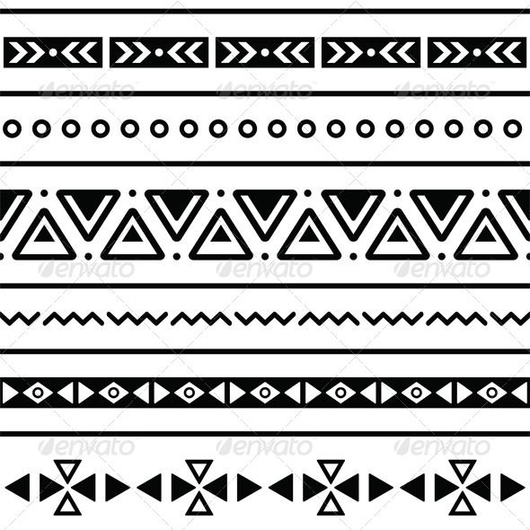 Aztec seamless pattern, tribal black and white   Texture ...
