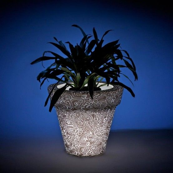 Translucent Glowing Pots and Planters - Vazon by Rolotuxe
