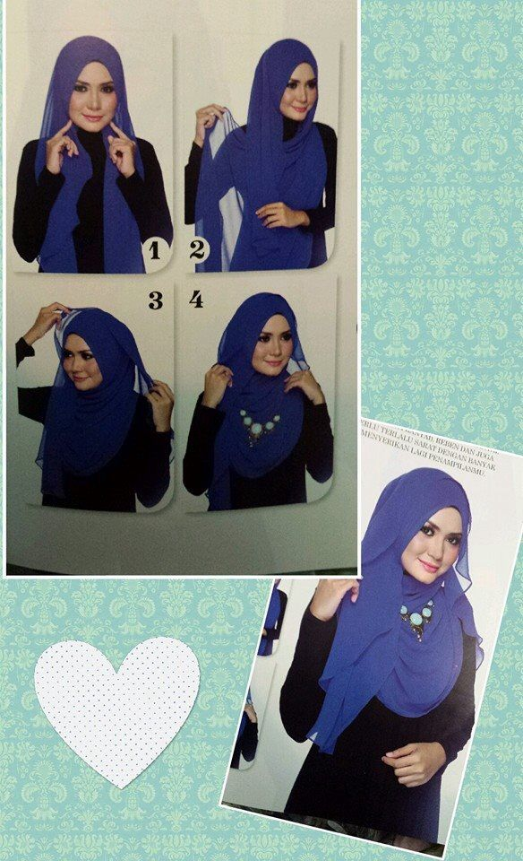 Hijab tutorial for necklace
