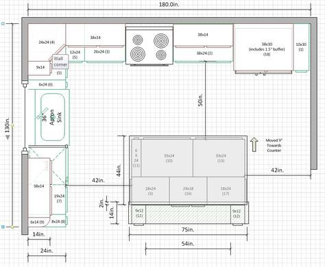 11 X 14 Kitchen Layout With 3 Doors Google Search