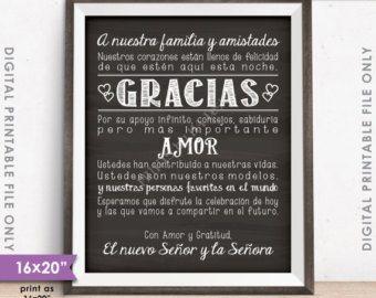 Best 25 thank you in spanish ideas on pinterest thank u in wedding thank you sign in spanish el casarse le agradece espaol gracias cartel stopboris Images