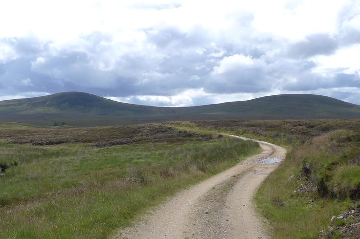 The road leaving Altnabreac train station, one of the most remote stations in Scotland