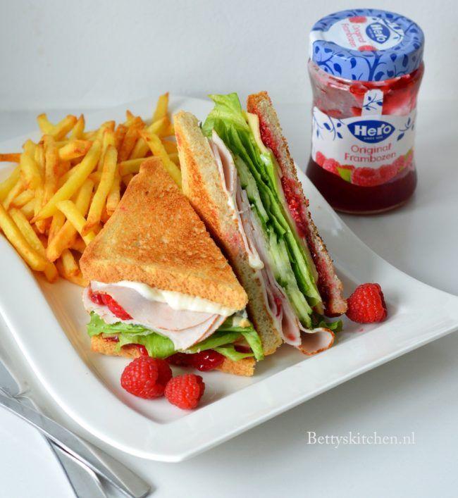 recept kalkoen sandwich met frambozen hero jam studio betty;s kitchen lunchrecepten