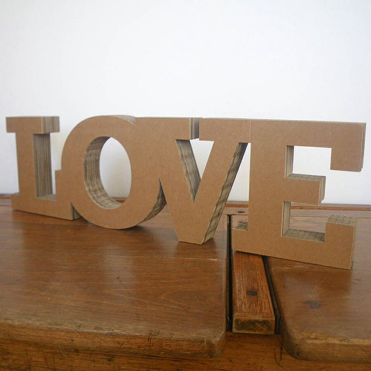 chunky cardboard love letters wedding inspiration lots of what i