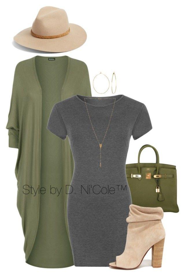 """Untitled #3286"" by stylebydnicole on Polyvore featuring Hermès, WearAll, Kristin Cavallari, Phyllis + Rosie, rag & bone and Natalie B"
