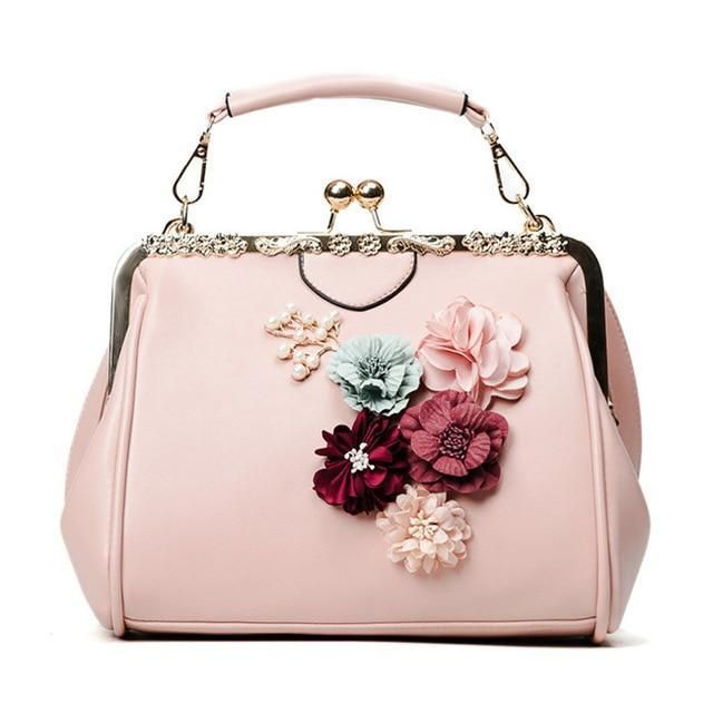 YQYDER New Lady Luggage Flower Metallic Body Purse Beaded Messenger Bag PU Crossbody Bag Manufacturers Design Feminine Tote Pouch Sac