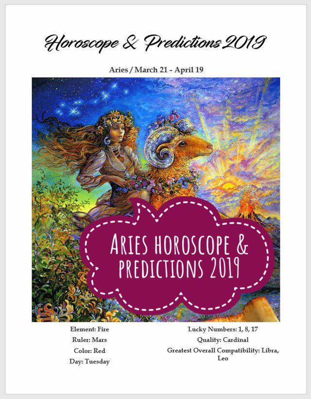 Aries horoscope and predictions 2019  Astrology  Zodiac sign