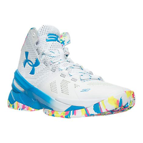 Under Armour Curry 2 Basketball Shoes White/Mojo Pink/Electric Blue: https: