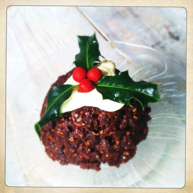 chocolate biscuit cake christmas pudding