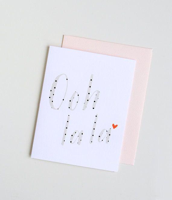 Ooh La La. Greeting Card. Love Card. by PeiDesign on Etsy, $4.50