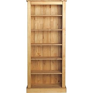 Buy Tall Wide Extra Deep Bookcase - Solid Pine at Argos.co.uk - Your Online Shop for Bookcases and shelving units.