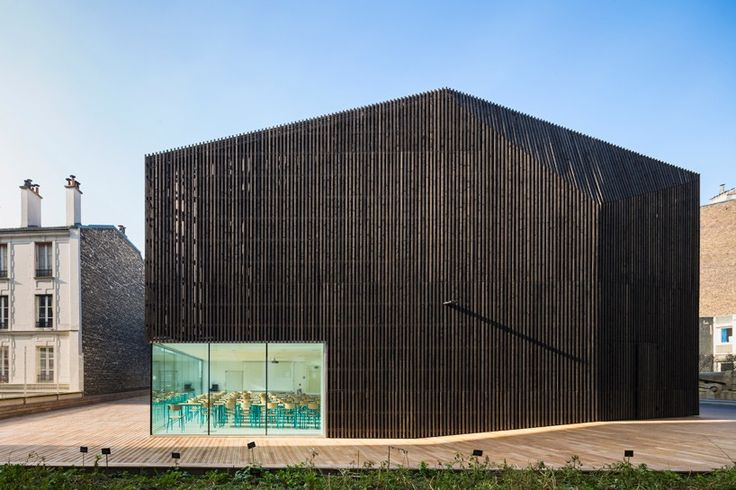 AZC's urban barn in paris contains two university auditoriums