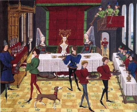 Cerimonial de uma ceia real na Inglaterra no início da Guerra dos Cem Anos | Idade Média