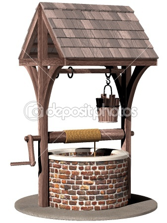 Garden or yard wishing well.