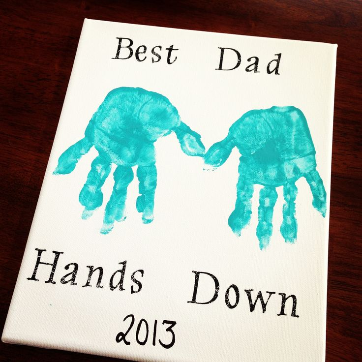 "Father's Day DIY Canvas Art!  8"" x 10"" Canvas  Acrylic paint...any color  Rub-On letters by paper studio (usually in the scrapbook section @ hobby lobby)    Black sharpie for the year"