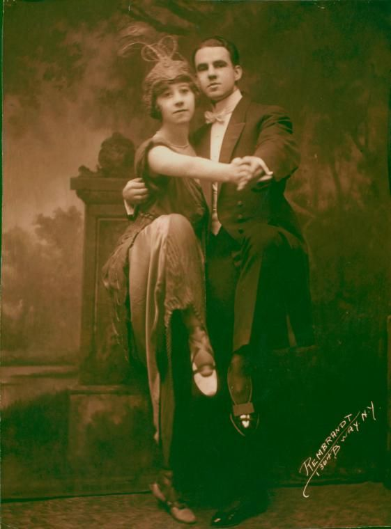 ๑ Nineteen Fourteen ๑ historical happenings, fashion, art & style from a century ago - 1914. Ted Shawn and Norma Gould in The Argentine Tango.