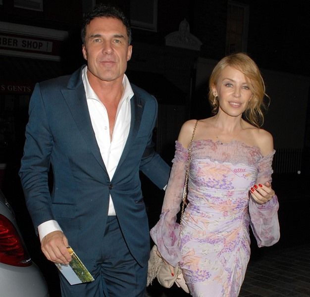 Kylie Minogue and Andre Balasz look stunning together as they arrive at Chiltern Firehouse for a Valentino party. Is love in the air?