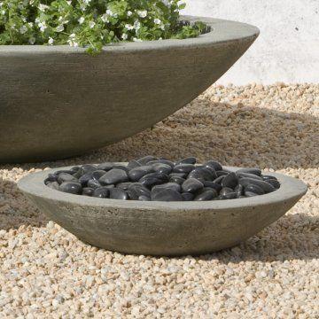 zen container: Cast Stones, International Large, Low Zen, Large Low, Stones Plants, Campania International, Gardens Planters, Plants Bowls, Outdoor Planters