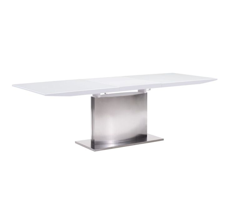 A Piece That Could Have Come From Museum Of Modern Art The Pierrefronds Extension Table Has Bright White Glass Top Which Extends With Lacquered
