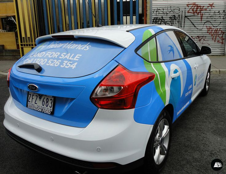 Ford Focus, Real Estate, Partial Vehicle Wrap, Real Estate, Vehicle Branding