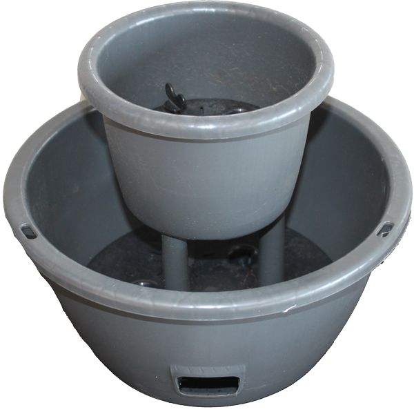 Moss Healthy Green - Self-Watering Pots - Two Tier Cascading Pot - Graphite