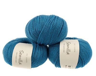 Blå ob121 - Semilla - økologisk uldgarn fra B.C. Garn - Strikkepinden