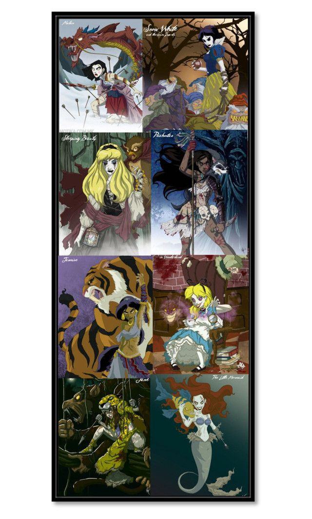 """""""Twisted Disney Bookmark"""" by maggie-beseda ❤ liked on Polyvore featuring art"""