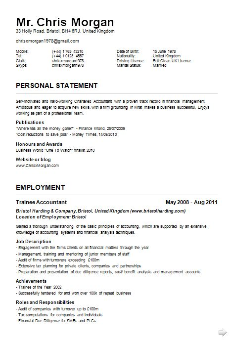 Find This Pin And More On Example Resume Cv. Sample Resume Cv