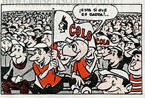 El día en que Condorito gritó un gol de Colo-Colo a la chile