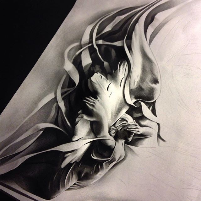 Instagram media by tattoospooky_d - Here's a little peak at this half sleeve im…
