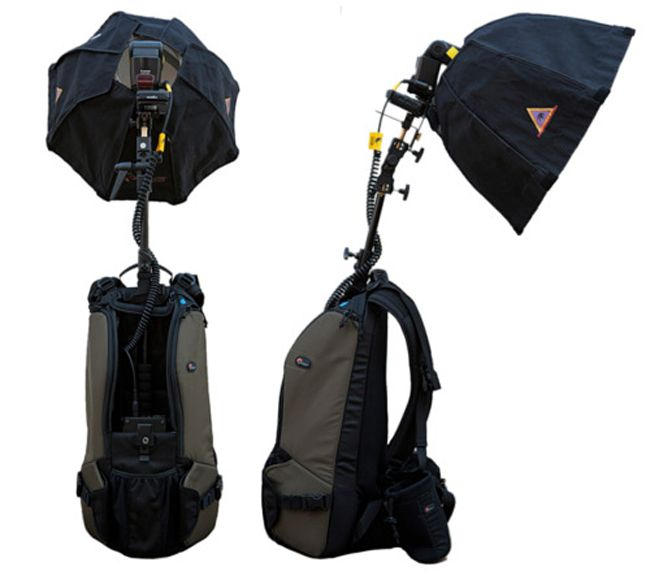 One-Person Photography Studio via DIY Flash Backpack